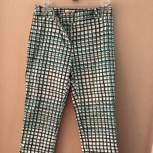 Kate Spade size 0 plaid cropped pant.  Retail $79